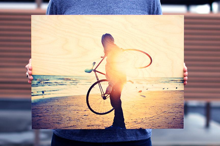 bike-print-on-wood